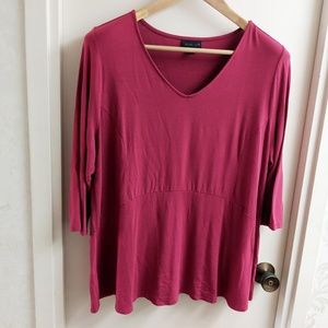 🔴2/$10 J.Jill Wearever Collection Stretchy Blouse